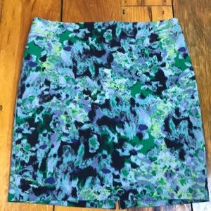 "3/$27 Cynthia Rowley Multi ""Watercolor"" Skirt"